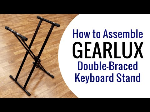 Gearlux Double-Braced Digital Piano Stand Assembly