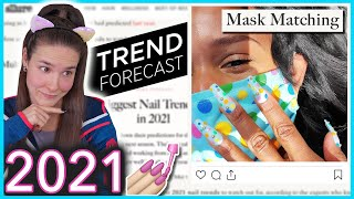 Trying 2021 Nail Art Trends