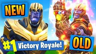 NEW VS OLD Thanos In Fortnite Battle Royale!