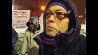 Zi de naștere la greva foamei, București