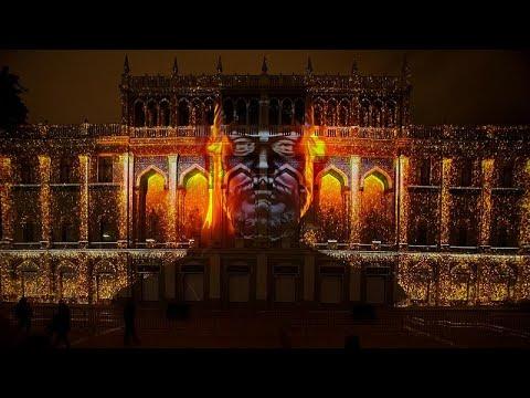 Látványos 3D-kivetítőshow-t láthatott a közönség a bakui fesztiválon