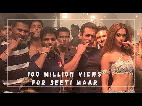 Radhe's Seeti Maar song gets 100 million views on YouTube, DSP says thanks
