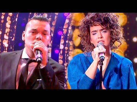 ¡Piel de gallina! Brian Lanzelotta y Ángela Leiva cantaron «I will always love you»