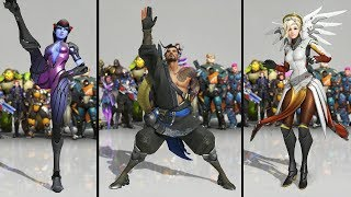 All the Overwatch Characters Dancing! (All Dance Emotes 2019)