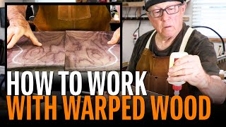 Watch the Trade Secrets Video, Working with warped wood: flattening and joining