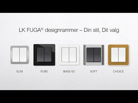 FUGA designrammer er enkle og stilrene