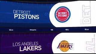 Detroit Pistons vs LA Lakers Game Recap   1/9/19   NBA