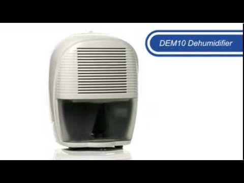 video De'Longhi DEM10 Dehumidifier – White