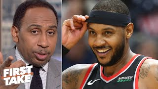 Carmelo Anthony will be a difference-maker for the Trail Blazers – Stephen A. | First Take