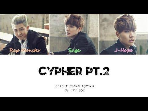 BTS(방탄소년단) - Cypher Pt.2: Triptych (Colour Coded Lyrics Han/Rom/Eng)