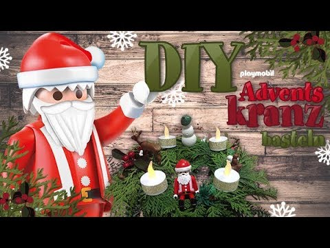 PLAYMOBIL DIY Bastelvideo - Adventskranz basteln