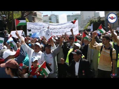 العمّال المغاربة: فلسطين حرة حرة.. والصهيون يطلع برا