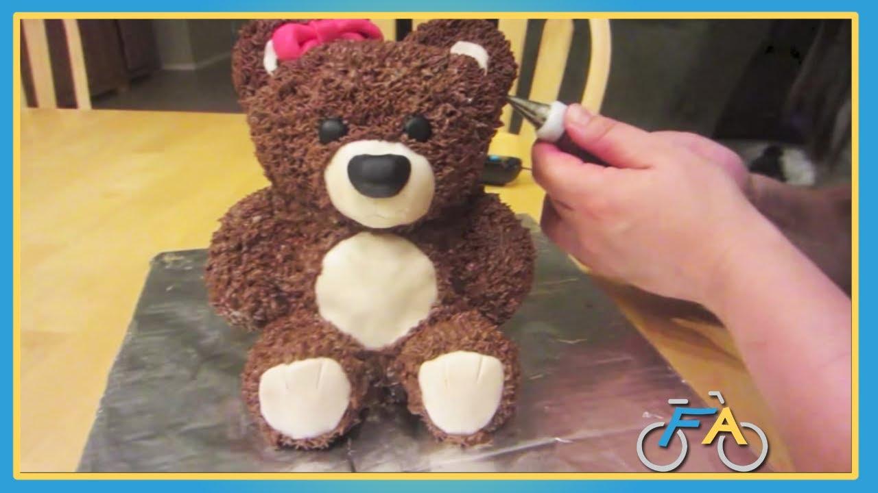 World S Cutest Teddy Bear Cake Youtube