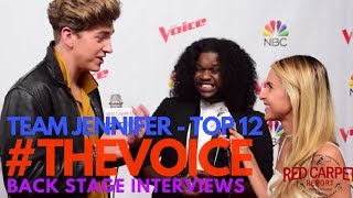 """Team Jennifer interviewed at """"The Voice"""" Season 13 Live Show Screening with Top 12 Artists #TheVoice"""
