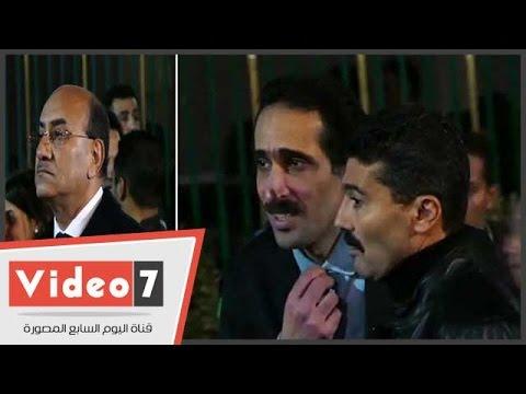 خالد النبوى وهشام جنينة ومصطفى بكرى وتوفيق عكاشة والجلاد فى عزاء كريمة مختار