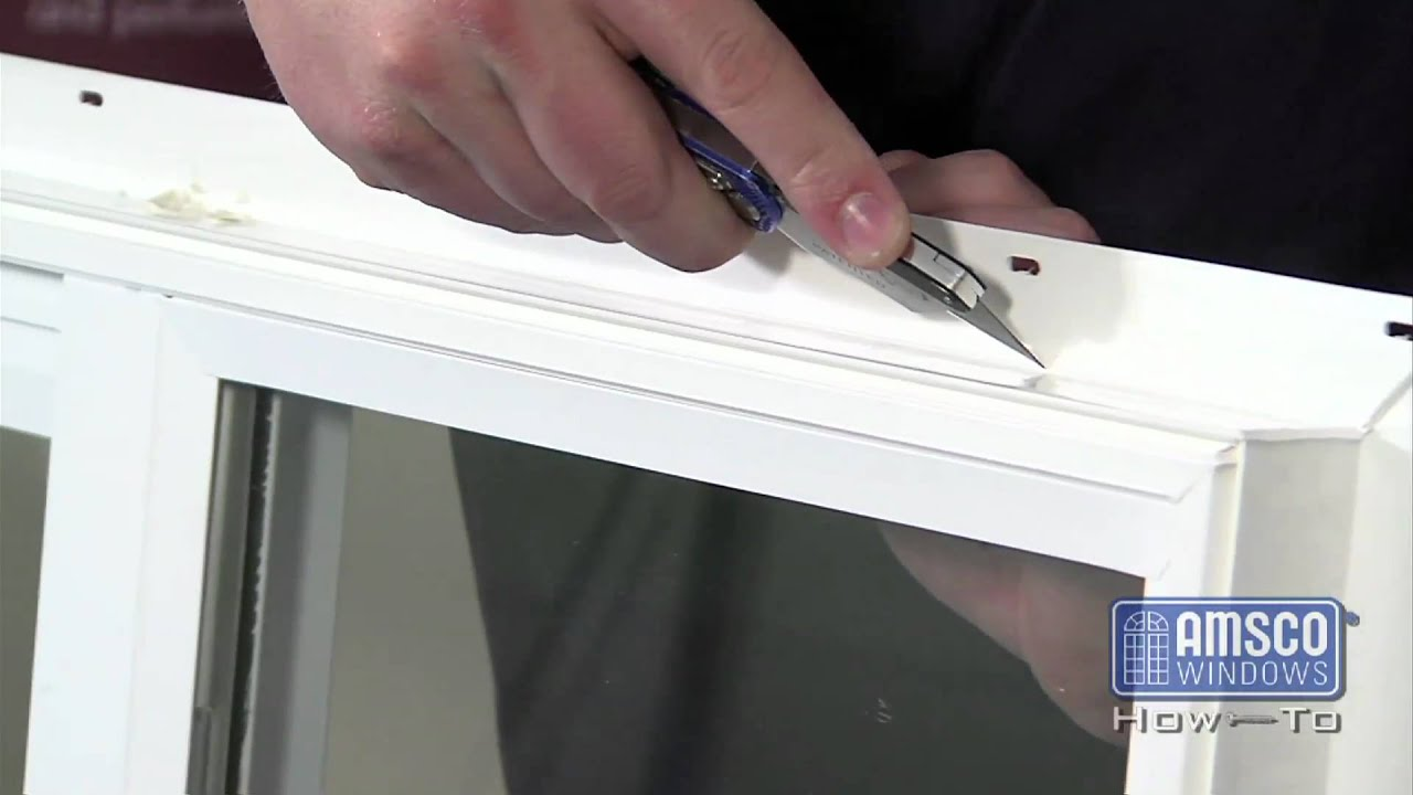 Removing A Nail Fin From A Vinyl Window Youtube