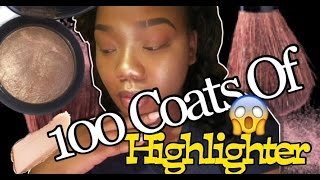 100 Coats Of Highlighter!