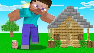 Minecraft BUT We're GIANT PEOPLE! (insane)