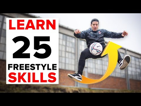 25 freestyle skills everyone should learn | BEGINNER to PRO
