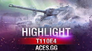 Старый солдат! T110E4 в World of Tanks на карте Тихий берег