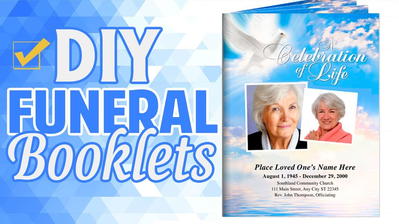 Printable Large Tabloid Funeral Programs Booklets Youtube