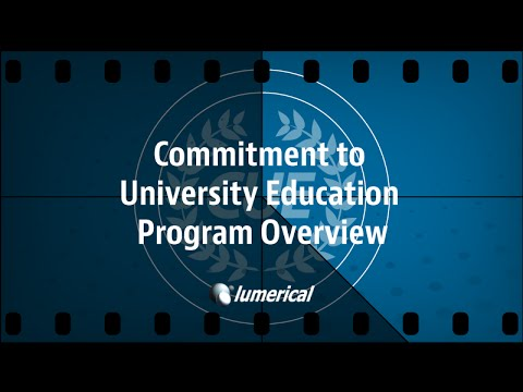 Lumerical's Commitment to University Education Program
