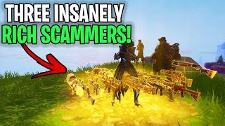 3 insanely RICH Crazy Scammers Exposed!🤣 (Scammer Get Scammed) Fortnite Save The World