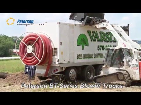 Peterson BT Series Blower Trucks Doing Erosion Control
