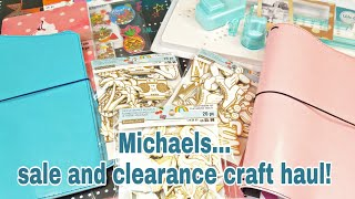 Michaels sale and clearance craft haul | Planning With Eli