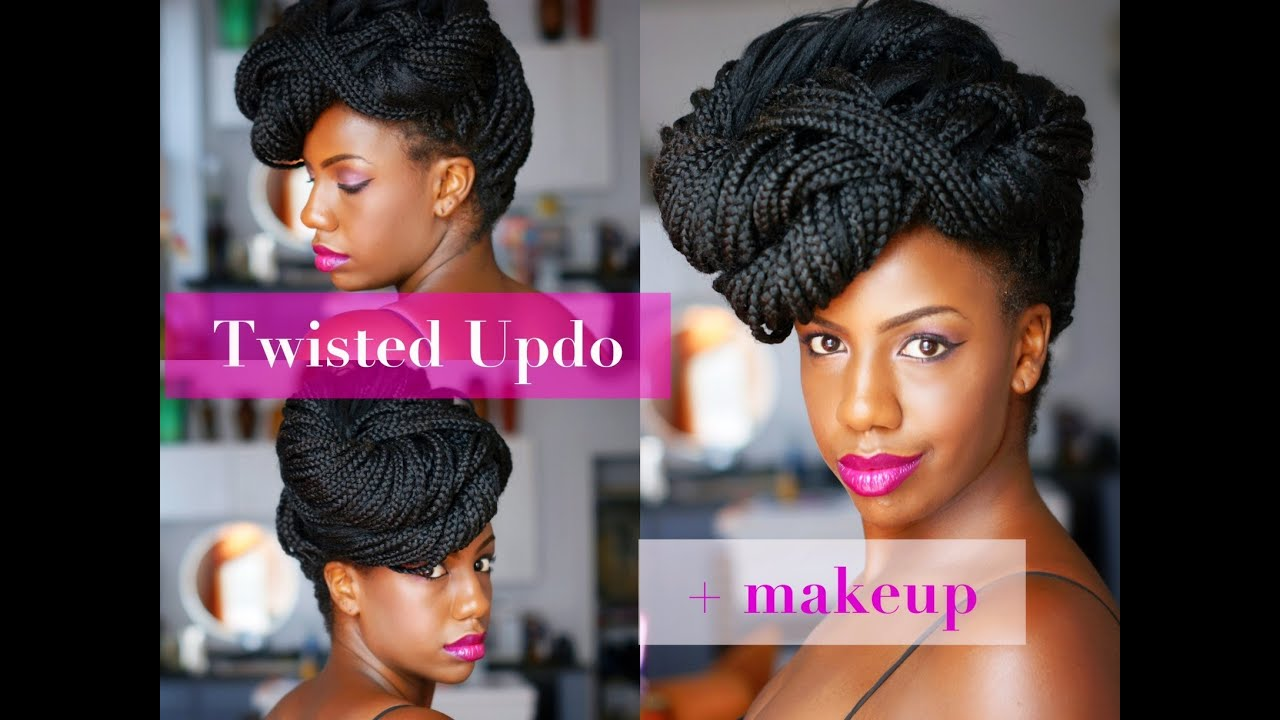 Twisted Updo For Havana Twists, Marley Twists, Senegalese