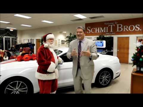Santa Visits Schmit Bros in Saukville WI
