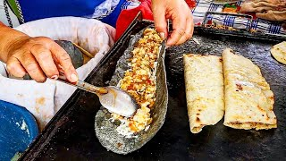 EXTREME Mexican Street Food - GIANT Purple Taco,