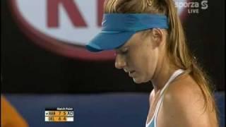 Daniela Hantuchova vs Casey Dellacqua - Australian Open 2009 - End of the match.