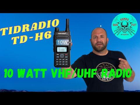 TIDRADIO TD-H6 | 10 Watt Dual Band Radio