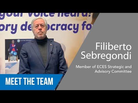 Filiberto Sebregondi - Member of ECES Strategic & Advisory Committee