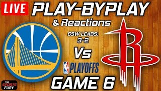 Warriors vs Rockets Game 6 | Live Play-By-Play & Reactions