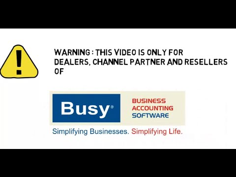 Busy Accounting Software Customization
