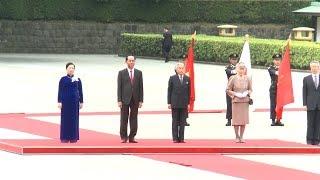 Lễ đón chính thức Chủ tịch nước Trần Đại Quang và Phu nhân tại Hoàng cung Nhật Bản
