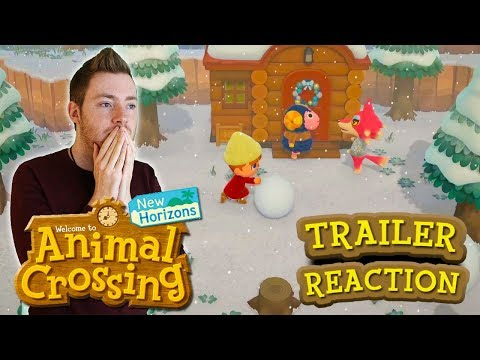 NEW ANIMAL CROSSING SWITCH - ANIMAL CROSSING NEW HORIZONS LIVE REACTION!