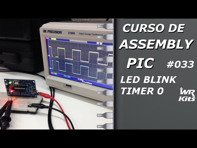 LED BLINK COM TIMER0 | Assembly para PIC #033