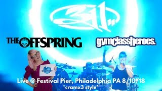 311, The Offspring, & Gym Class Heroes - LIVE - Never Ending Summer *cramx3 concert experience*