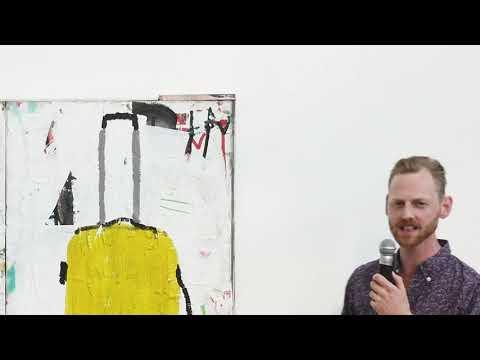 """Digital Vernissage av Jarl Ingvarssons utställning  """"Kören övar"""" på Kulturcentrum Ronneby konsthall"""