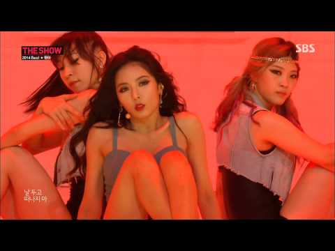 HyunA - Black List & RED @20141015 SBS The Show Best Of 2014