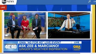 ABC 33/40's James Spann talks with Ginger Zee on GMA 40 live stream special