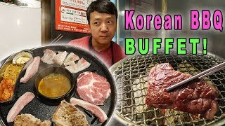 BEST All You Can Eat KOREAN BBQ Buffet in Seoul South Korea