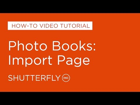 Photo Books: Import Page
