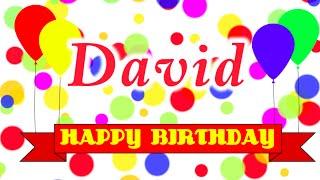 Happy Birthday David Song