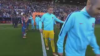 Levante (5) vs Barcelona (4) barca harus menerima kekalahan (13/05/2018)
