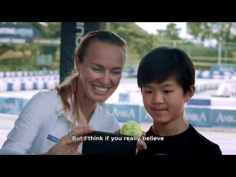 Tiny Trainers – Tennis Legend, Martina Hingis VS Kart Racer Christian Ho