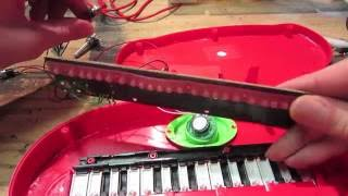 Circuit bending a toy mini piano